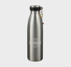 17 oz Porto Copper Vacuum Water Bottle with No-Contact Tool