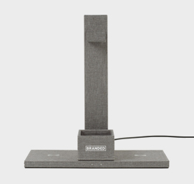 Truman Dual Wireless Charger and Headphone Stand