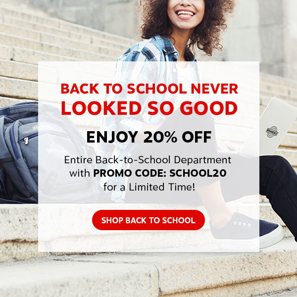 Back to School Never Looked So Good. Enjoy 20% off entire back-to-school department with PROMO CODE: SCHOOL20 for a limited time. Shop back to school.